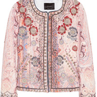 Isabel Marant | Johnson hand-embellished cotton-blend jacket | NET-A-PORTER.COM