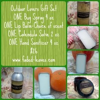 Outdoors Lover Gift Set with salve, bug spray, sanitizer, lip balm