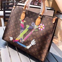 LV Louis Vuitton Fashion New Monogram Leather Shoulder Bag Women Handbag