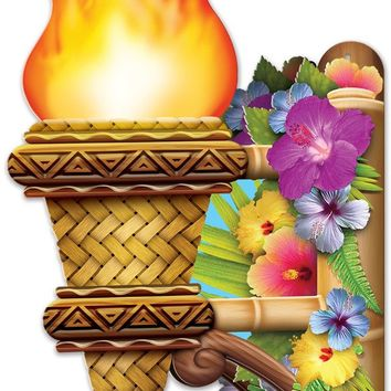 3-d tiki wall torch with flame Case of 12