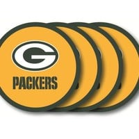 Duck House Green Bay Packers Coaster Set  4 Pack