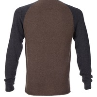 Cashmere Baseball Colorblock Sweater