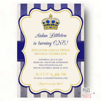 Best Royal Blue Birthday Invitations Products On Wanelo - Royal birthday invitation template