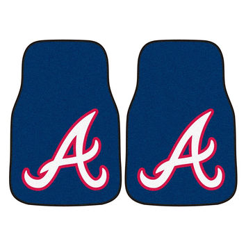 Atlanta Braves MLB Car Floor Mats (2 Front)