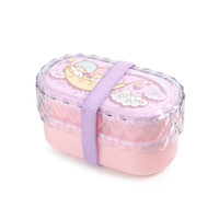 Little Twin Stars 2 Tier Jewel Case Lunch Box: Cloud