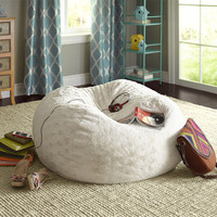 Fuzzy Bean Bag - Sand