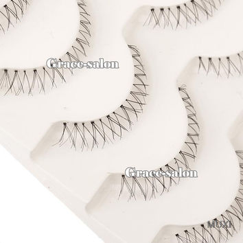 Makup 5 Pairs Handmade Under Bottom False Eyelashes Natural Lowder Eye Lashes