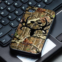 Hard Plastic Case - Bone Collector Black with Camo - iPhone 4/4s, iPhone 5, iPhone 5s, iPhone 5c, Samsung S2, S3, S4