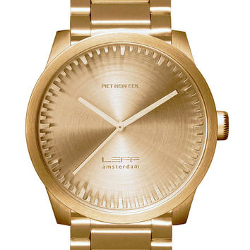 LEFF amsterdam Tube Watch Brass with Bracelet