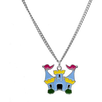 Stainless Steel Imagination Castle Charm Necklace