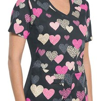 Buy Cherokee Flexibles Women's V-neck Side Panels Printed Scrub Top for $21.45