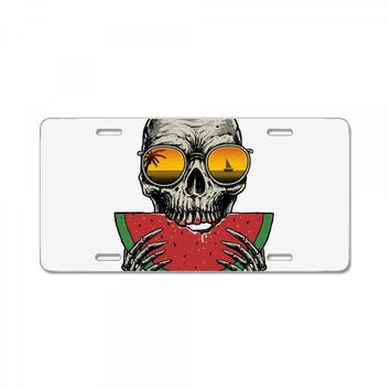 watermelon skull License Plate