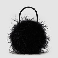 Loeffler Randall / Zadie Feather Circle Tote in Black