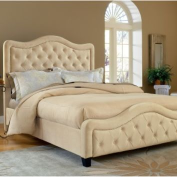 Trieste Upholstered Low Profile Bed - Buckwheat | www.hayneedle.com
