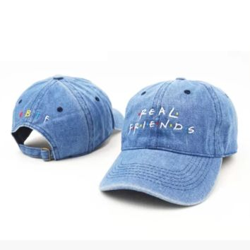 Real Friends Embroidered Authentic Embroidered Baseball Caps Hat
