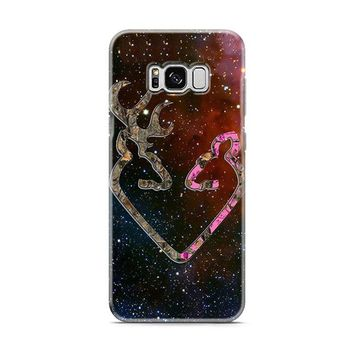 BROWNING STYLE HEART BUCK DOE DEER STICKER DECAL DUCK HUNTING Samsung Galaxy S8 | Galaxy S8 Plus Case