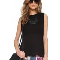 Amped Up Chiffon Top