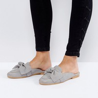 Office Fox Bow Slip On Mules at asos.com