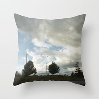 Photograph - Throw Pillow Cover Includes Pillow Insert - Clouds and Trees - Made to Order