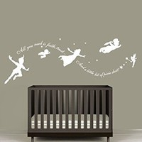 Wall Decal Vinyl Sticker Decals Art Decor Design Faity Tale Story Peter Pan All You Need Is Faith Kids Nurdery Baby Room Bedroom (R1254)