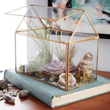 Glass Terrarium Succulent House