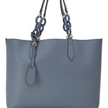 Burberry Women's Medium Reversible Tote With Resin Chain Blue