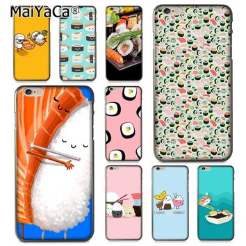 MaiYaCa Japanese cuisine Sushi food Colorful Cute Phone Accessories Case for Apple iPhone 8 7 6 6S Plus X 5 5S SE 5C Cover