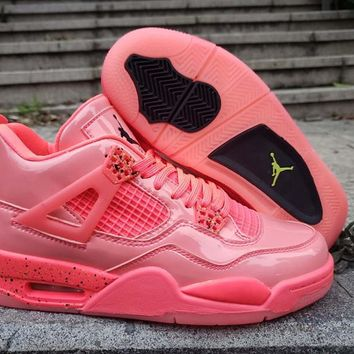 Hot Nike Air Jordan 4 AJ4 Men Women Fashion Pink Sport Basketball Shoes Size 36-47