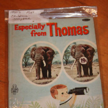 1950's Childrens Book Especially From Thomas Elephant