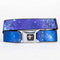 Buckle-Down Mustang Galaxy Buckle Belt Space Blue One Size For Men 21992427201