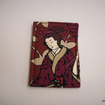 Japanese Beauty in a Purple Kimono Phone Cozy Sleeve Case for Ipod or Iphone