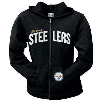 Pittsburgh Steelers - Pep Rally Premium Juniors Full Zip Hoodie