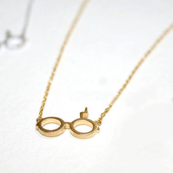 Small Harry Potter Necklaces / Choose color 18k Gold Silver Everyday Geometric Jewelry