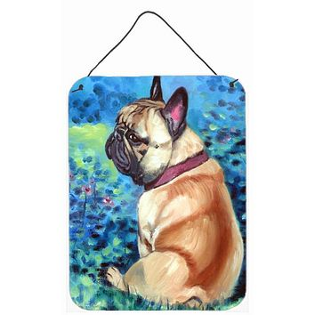 Fawn French Bulldog in Flowers Wall or Door Hanging Prints 7313DS1216
