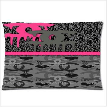 """2000Chanel 2 Side 18""""x26"""" Pillow Case With a Zippered"""