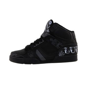 Mens Osiris NYC 83 Lucky 13 Skate Shoe, Black White  Journeys Shoes