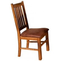 Sunny Designs 1404RO-CT Sedona Slat Back Chair In Rustic Oak