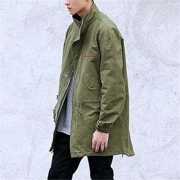 2017 Shawn Yue, Kanye with heavy water military wind D51 men loose in the long coat collar jacket