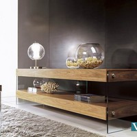 Contemporary Walnut Floating TV Stand