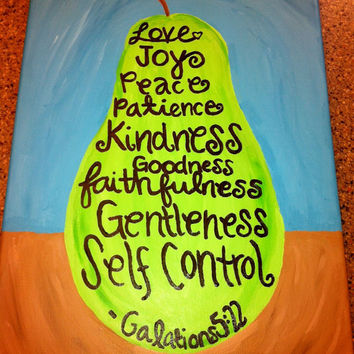 Pear Scripture Painting