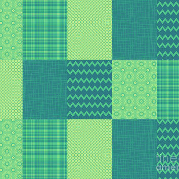 Patchwork Patterns - Seafoam Green by Shawna Rowe