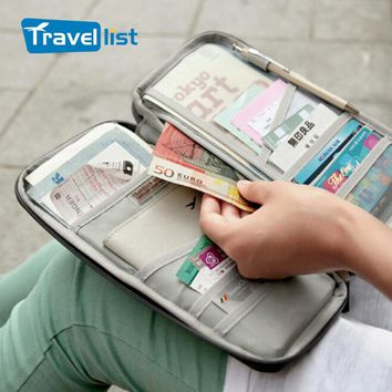 2017TRAVEL LIST Fashion Mutifunction Travel Passport bag Clutch Wallets ID Card Holder Organizer Bag Portable Case Purse Fashion