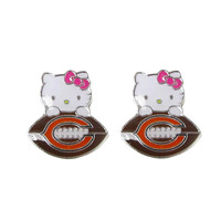 Chicago Bears Hello Kitty Earrings