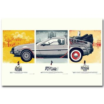 Back To The Future 1 2 3 Art Silk Poster Print 13x20 24x36 inch Classic Movie Pictures for Living Room Decoration 016