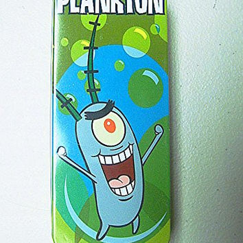"SpongeBob SquarePants THE MOVIE ""PLANKTON"" 2004 Burger King Paramount Studios Reversible Watch-NEW in Sealed Illustrated Tin"