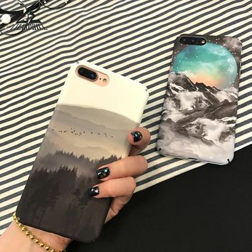 Lizardhill Scenery Landscape forest mountain cases for iphone 7 plus covers for iphone 6s 6 6plus phone coque for iphone 8 plus