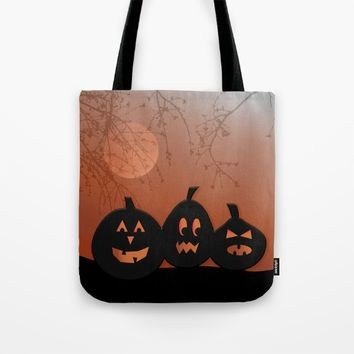 Halloween Pumpkins Tote Bag by UMe Images