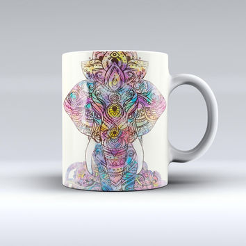 The Zendoodle Sacred Elephant ink-Fuzed Ceramic Coffee Mug