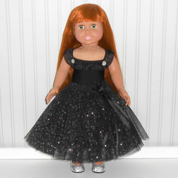 Black Dance Outfit for 18 inch Dolls with Leotard and Ankle Length Tutu American Doll Clothes