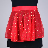 Vintage Sheer Red Polka-dot Hostess Apron | VintageAnelia - Kitchen & Serving on ArtFire